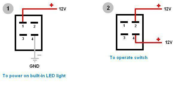 how to wire 4 pin led switch 4 pin led switch wiring rh oznium com 4 pin rocker switch wiring diagram 4 prong rocker switch wiring diagram